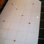 White Kitchen floor